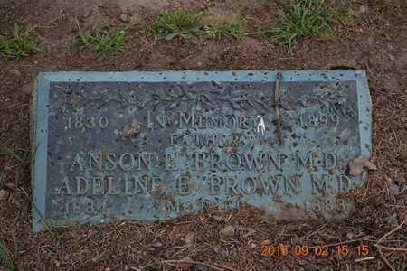 BROWN, M.D., ADELINE E. - Hillsdale County, Michigan | ADELINE E. BROWN, M.D. - Michigan Gravestone Photos