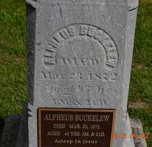 BUCKELEW, ALPHEUS - Hillsdale County, Michigan | ALPHEUS BUCKELEW - Michigan Gravestone Photos