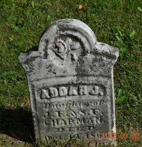 CHAPMAN, ADDAH J. - Hillsdale County, Michigan   ADDAH J. CHAPMAN - Michigan Gravestone Photos