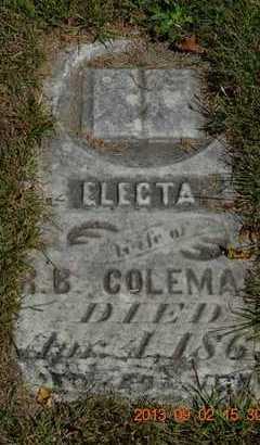COLEMAN, ELECTA - Hillsdale County, Michigan | ELECTA COLEMAN - Michigan Gravestone Photos