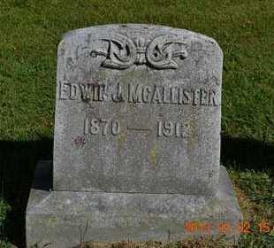 MCALLISTER, EDWIN J. - Hillsdale County, Michigan   EDWIN J. MCALLISTER - Michigan Gravestone Photos