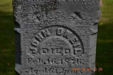 O'NEIL, JOHN - Hillsdale County, Michigan   JOHN O'NEIL - Michigan Gravestone Photos