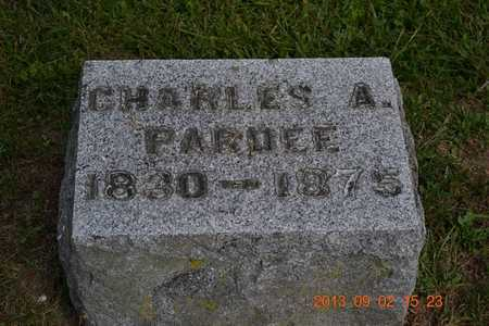 PARDEE, CHARLES A. - Hillsdale County, Michigan | CHARLES A. PARDEE - Michigan Gravestone Photos