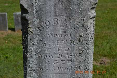 PARKER, NORA E. - Hillsdale County, Michigan | NORA E. PARKER - Michigan Gravestone Photos