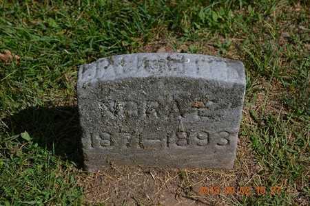 PARKER, NORA E. - Hillsdale County, Michigan | NORA E. PARKER - Michigan Gravestone Photos