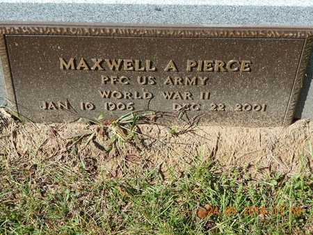 PIERCE, MAXWELL A. - Hillsdale County, Michigan   MAXWELL A. PIERCE - Michigan Gravestone Photos