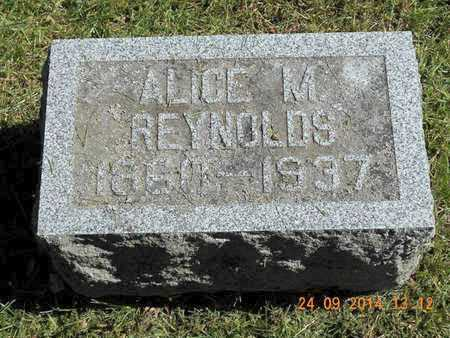 REYNOLDS, ALICE M. - Hillsdale County, Michigan   ALICE M. REYNOLDS - Michigan Gravestone Photos