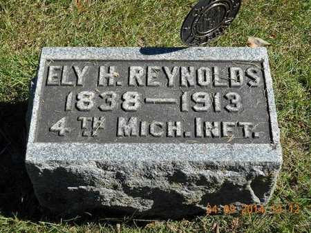 REYNOLDS, ELY H. - Hillsdale County, Michigan   ELY H. REYNOLDS - Michigan Gravestone Photos