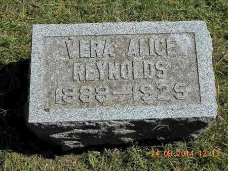 REYNOLDS, VERA ALICE - Hillsdale County, Michigan | VERA ALICE REYNOLDS - Michigan Gravestone Photos