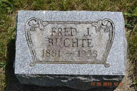 RUCHTE, FRED J. - Hillsdale County, Michigan | FRED J. RUCHTE - Michigan Gravestone Photos