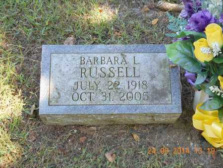 RUSSELL, BARBARA L. - Hillsdale County, Michigan | BARBARA L. RUSSELL - Michigan Gravestone Photos