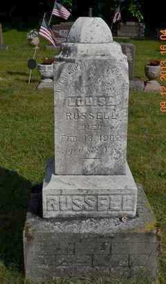 RUSSELL, LOUISA - Hillsdale County, Michigan | LOUISA RUSSELL - Michigan Gravestone Photos