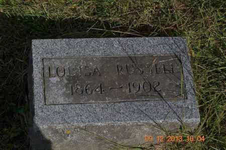RUSSELL, LOUISA - Hillsdale County, Michigan | LOUISA RUSSELL - Michigan Gravestone Photos