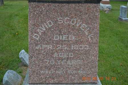 SCOVELL, DAVID - Hillsdale County, Michigan   DAVID SCOVELL - Michigan Gravestone Photos