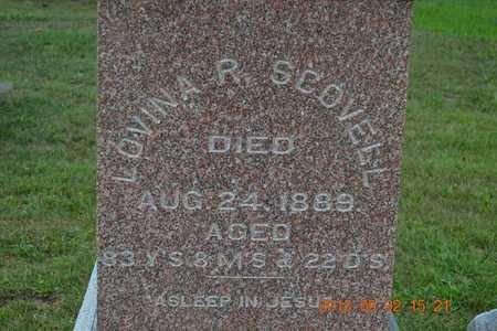 SCOVELL, LOVINA R. - Hillsdale County, Michigan | LOVINA R. SCOVELL - Michigan Gravestone Photos