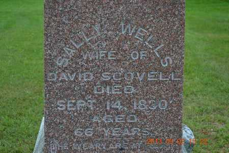 WELLS SCOVELL, SALLY - Hillsdale County, Michigan | SALLY WELLS SCOVELL - Michigan Gravestone Photos
