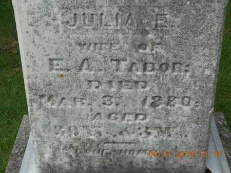 TABOR, JULIA E. - Hillsdale County, Michigan | JULIA E. TABOR - Michigan Gravestone Photos