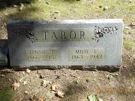TABOR, JENNIE L. - Hillsdale County, Michigan | JENNIE L. TABOR - Michigan Gravestone Photos