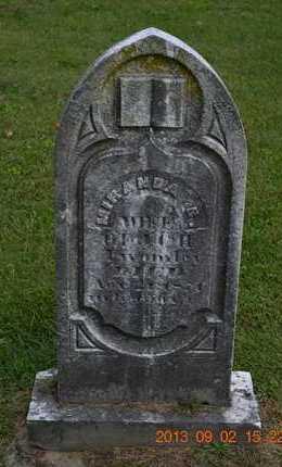 TWOMLEY, MIRANDA C. - Hillsdale County, Michigan | MIRANDA C. TWOMLEY - Michigan Gravestone Photos