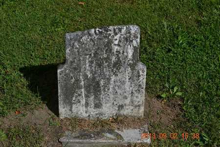 UNKNOWN, UNKNOWN - Hillsdale County, Michigan   UNKNOWN UNKNOWN - Michigan Gravestone Photos