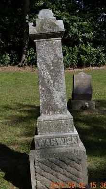 WARWICK, LOT MARKER - Hillsdale County, Michigan   LOT MARKER WARWICK - Michigan Gravestone Photos