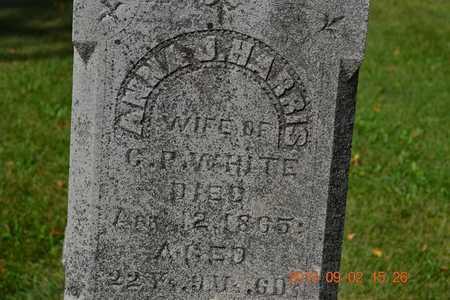 WHITE, ANNA J. - Hillsdale County, Michigan | ANNA J. WHITE - Michigan Gravestone Photos