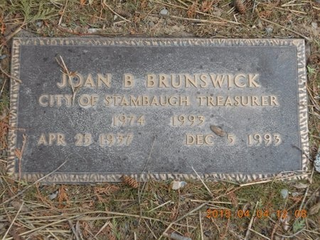 BRUNSWICK, JOAN B. - Iron County, Michigan | JOAN B. BRUNSWICK - Michigan Gravestone Photos