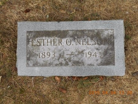 NELSON, ESTHER O. - Iron County, Michigan   ESTHER O. NELSON - Michigan Gravestone Photos