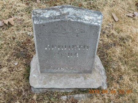 NORA, KENNETH - Iron County, Michigan   KENNETH NORA - Michigan Gravestone Photos