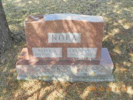 NORA, FRANCES E. - Iron County, Michigan | FRANCES E. NORA - Michigan Gravestone Photos