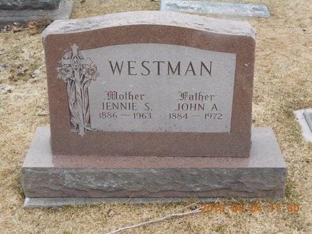 WESTMAN, JENNIE S. - Iron County, Michigan | JENNIE S. WESTMAN - Michigan Gravestone Photos