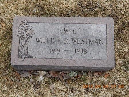 WESTMAN, WILLICE R. - Iron County, Michigan | WILLICE R. WESTMAN - Michigan Gravestone Photos