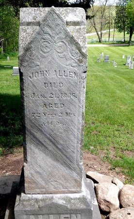 ALLEN, JOHN - Kalamazoo County, Michigan | JOHN ALLEN - Michigan Gravestone Photos