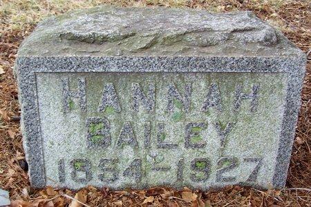 BAILEY, HANNAH - Kalamazoo County, Michigan | HANNAH BAILEY - Michigan Gravestone Photos