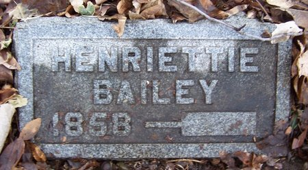 BAILEY, HENRIETTIE - Kalamazoo County, Michigan | HENRIETTIE BAILEY - Michigan Gravestone Photos