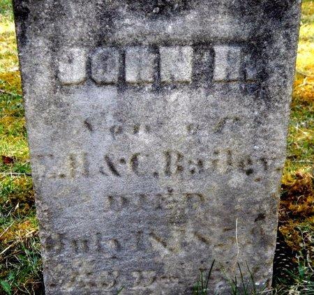 BAILEY, JOHN H. - Kalamazoo County, Michigan | JOHN H. BAILEY - Michigan Gravestone Photos