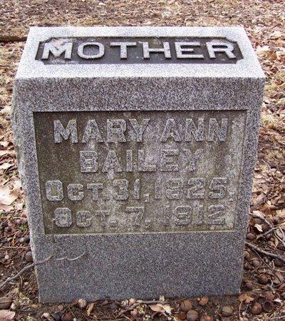 BAILEY, MARY ANN - Kalamazoo County, Michigan | MARY ANN BAILEY - Michigan Gravestone Photos