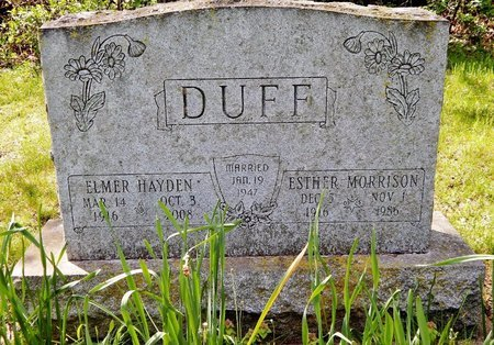 DUFF, ESTHER - Kalamazoo County, Michigan | ESTHER DUFF - Michigan Gravestone Photos