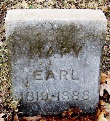 EARL, MARY - Kalamazoo County, Michigan | MARY EARL - Michigan Gravestone Photos