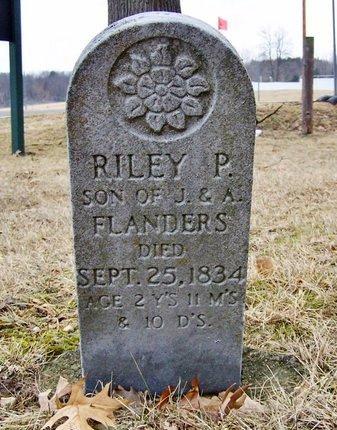 FLANDERS, RILEY P. - Kalamazoo County, Michigan | RILEY P. FLANDERS - Michigan Gravestone Photos