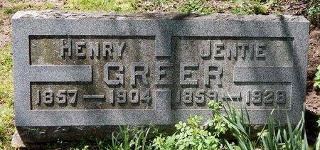 GREER, HENRY - Kalamazoo County, Michigan | HENRY GREER - Michigan Gravestone Photos