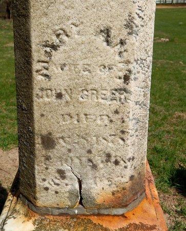 GREER, MARY ANN - Kalamazoo County, Michigan | MARY ANN GREER - Michigan Gravestone Photos