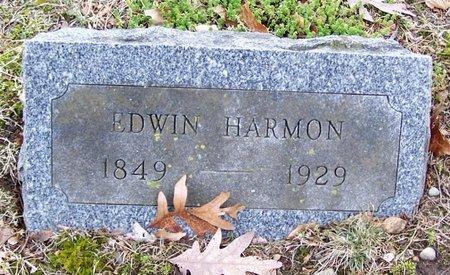HARMON, EDWIN - Kalamazoo County, Michigan | EDWIN HARMON - Michigan Gravestone Photos