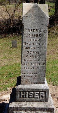 HISER, FREDERICK - Kalamazoo County, Michigan | FREDERICK HISER - Michigan Gravestone Photos