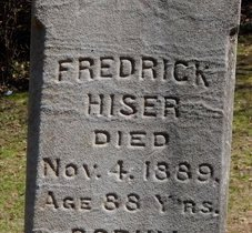HISER, FREDERICK - Kalamazoo County, Michigan   FREDERICK HISER - Michigan Gravestone Photos