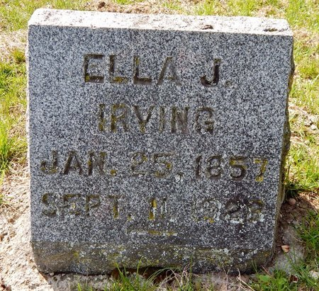 IRVING, ELLA J. - Kalamazoo County, Michigan | ELLA J. IRVING - Michigan Gravestone Photos