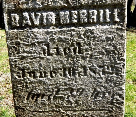 MERRILL, DAVID - Kalamazoo County, Michigan | DAVID MERRILL - Michigan Gravestone Photos