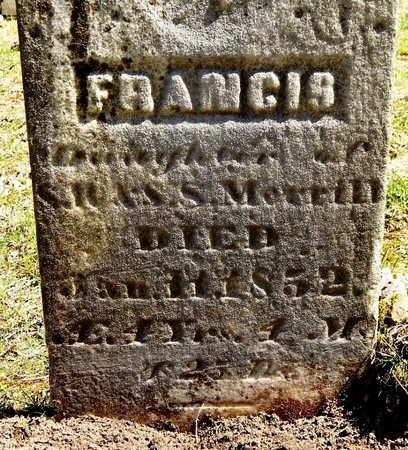 MERRILL, FRANCIS - Kalamazoo County, Michigan | FRANCIS MERRILL - Michigan Gravestone Photos