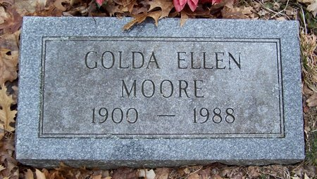 MOORE, GOLDA - Kalamazoo County, Michigan | GOLDA MOORE - Michigan Gravestone Photos