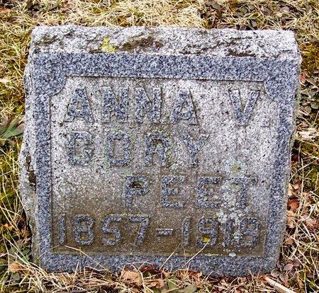PEET, ANNA V. - Kalamazoo County, Michigan | ANNA V. PEET - Michigan Gravestone Photos